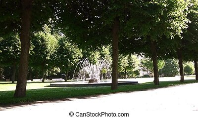 Beautiful Fountain In City Park