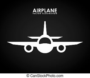 airplane icon design, vector illustration eps10 graphic