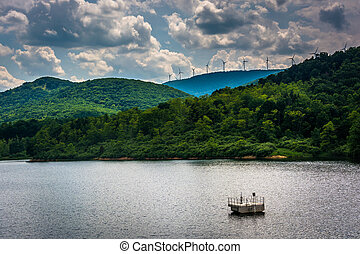 Lake in the rural Potomac Highlands of West Virginia.