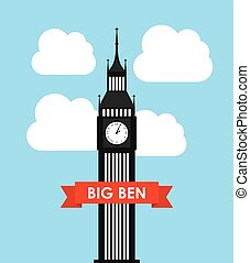 big ben design, vector illustration eps10 graphic