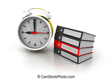 Alarm clock and documents