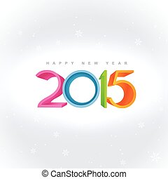 colorful 2015 design placed on white background - colorful...
