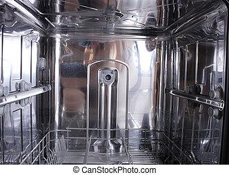 dishwasher background - new empty dishwasher as original...