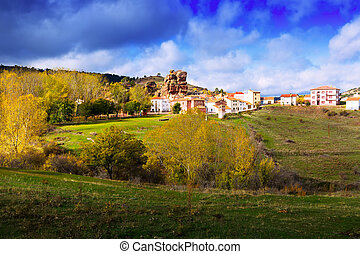 village at Alto Tajo Guadalajara, Spain