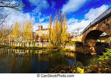 Old bridge at Trillo Guadalajara, Spain