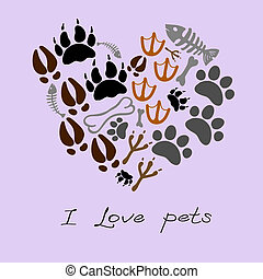 pets footsteps card