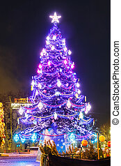 Christmas tree and architecture of Moscow - Christmas tree...
