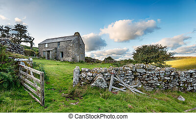 Moorland Farmyard - An old abandoned farm cottage on Bodmin...