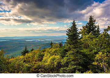 View from Blue Hill Overlook in Acadia National Park, Maine....