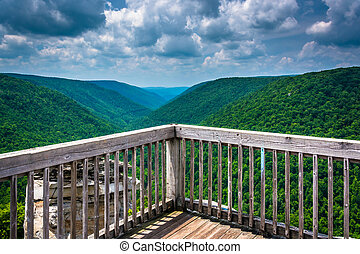 View of the Blackwater Canyon from Lindy Point, Blackwater...