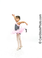 Beautiful little girl posing in ballet with tutu