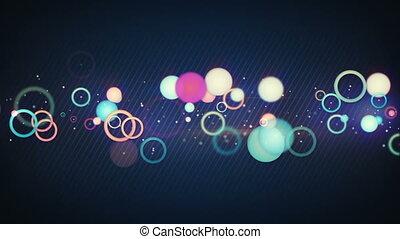 colorful circles loopable back loop