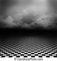 Gothic dark background - Empty, dark, psychedelici mage with...