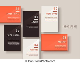 modern infographic template design with glossy square...