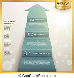 business arrow step staircase infographic