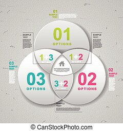modern infographic template design with circle elements
