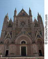 Orvieto-Italy - Facade of the Cathedral in Orvieto,Italy