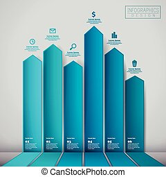 financial infographic template design with statistic element