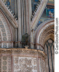 Orvieto-Italy - Detail from facade of the Cathedral in...