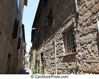 Orvieto-Italy - Narrow street of Orvieto ,Italy