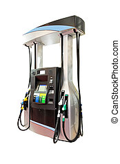 Modern gas pump isolated included clipping path