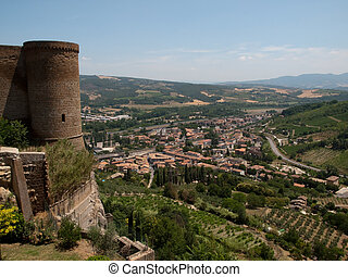Orvieto-Italy - City walls of Orvieto in Italy