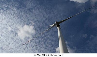 energy wind turbines sky with cloud - energy wind turbines...