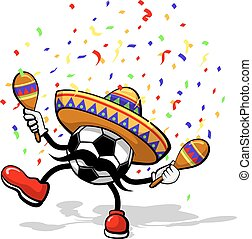 Soccer Cinco de mayo - A soccer ball celebrating cinco de...