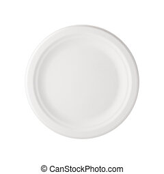 Paper Plate isolated with a clipping path