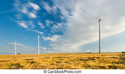Wind Turbines Timelapse - Long exposure timelapse sequence...