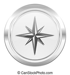 compass metallic icon