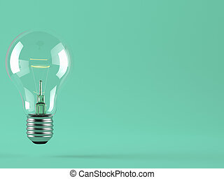 light bulb on blue background. - a light bulb on color...