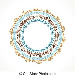 Tribal Bohemian Mandala background with round ornament...