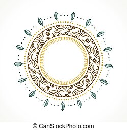 Tribal Bohemian Mandala background with round ornament pattern