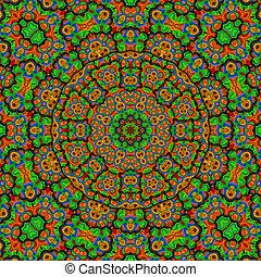 kaleidoscope multi colored