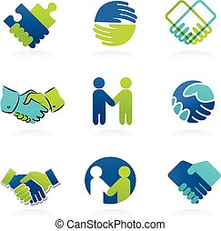 Collection of Handshake icons - Collection of Handshake,...