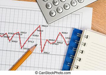 matita, uomo affari, crescita, Posto lavoro, grafico