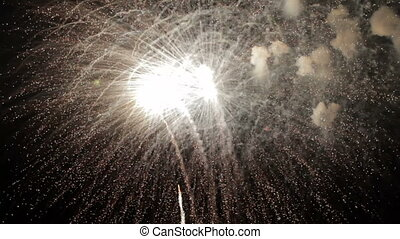 Fireworks with sound - diversity of fireworks with sound