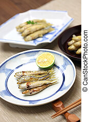 honmoroko, willow gudgeon, japanese cuisine, close up