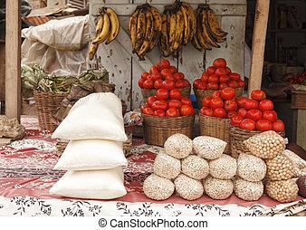 African Market - Outdoor market in Accra Ghana
