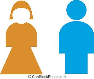 señal, macho, hembra, Baño