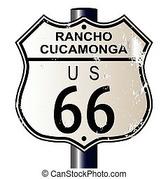 Rancho Cucamonga Route 66 Sign - Rancho Cucamonga Route 66...