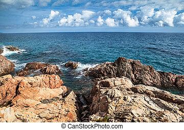 Costa Brava landscape.