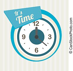 Time design, vector illustration - Time design over white...