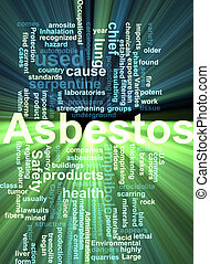 Asbestos word cloud glowing - Word cloud concept...