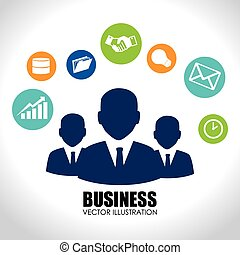 Business design over white backgroundvector illustration -...