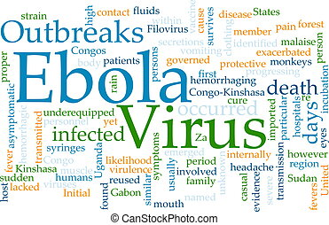 Ebola, palavra, nuvem