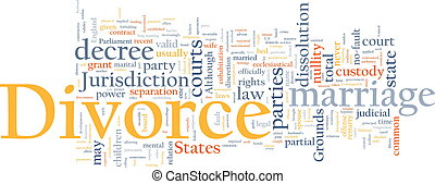 Divorce word cloud - Word cloud concept illustration of...