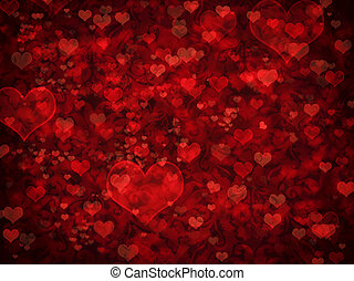 Valentine background - Shiny hearts bokeh light Valentines...