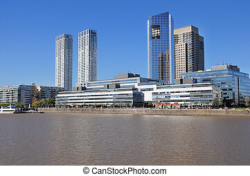 View of Puerto Madero, Buenos Aires - View of Puerto Madero,...